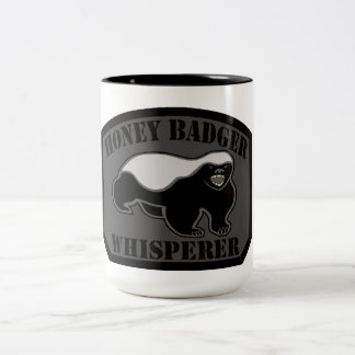 Honey Badger Whisperer Two-Tone Coffee Mug