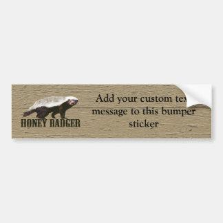 Honey Badger Wild Animal Bumper Sticker