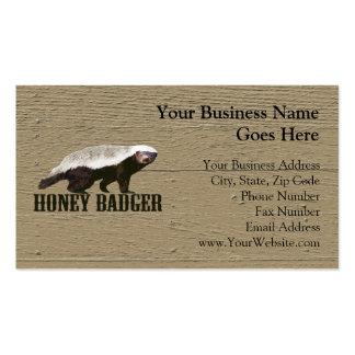 Honey Badger Wild Animal Business Cards