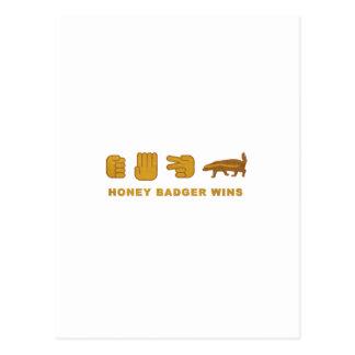 Honey Badger Wins - (Vintage) Postcard