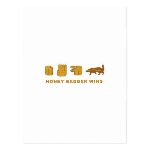 Honey Badger Wins - (Vintage) Post Card