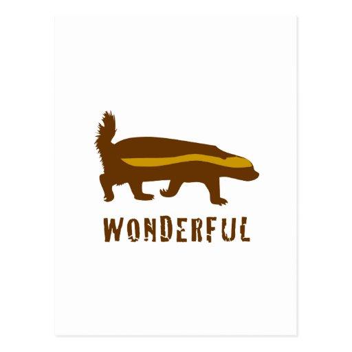 Honey Badger Wonderful Post Cards