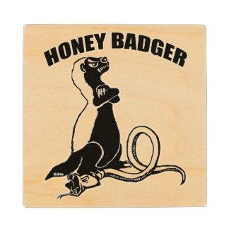 Honey badger wood coaster