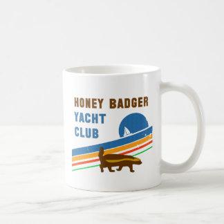 honey badger yacht club coffee mug