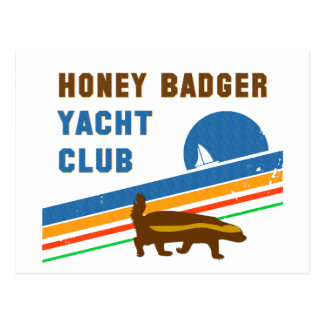 honey badger yacht club postcard