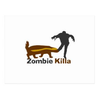 Honey Badger Zombie Killa Postcard