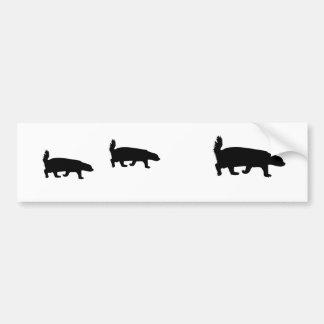 honey badgers bumper sticker