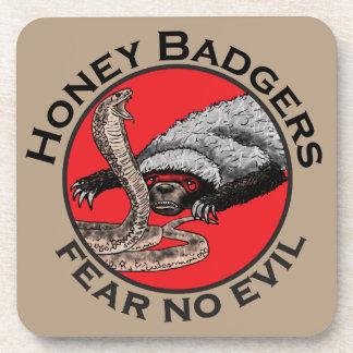Honey Badgers 'fear no evil' Beverage Coaster