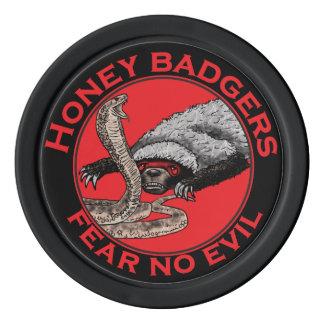 Honey Badgers 'fear no evil' Poker Chips