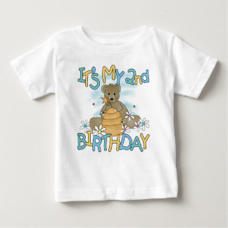 Honey Bear 2nd Birthday Baby T-Shirt