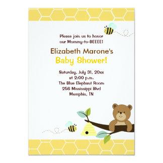 Honey Bear and Bee Baby Shower Invitation 4x6
