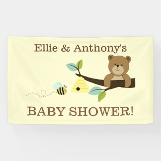 Honey Bear and Bumble Bee Shower Banner