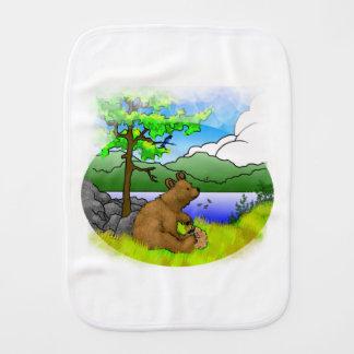 """""""Honey Bear"""" Burping Cloth"""