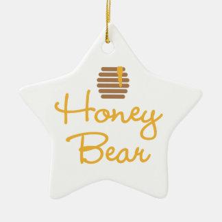 Honey Bear Ceramic Star Decoration