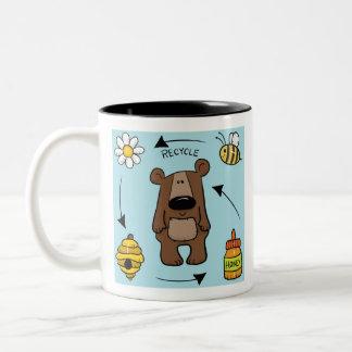 Honey Bear- The Recycler Two-Tone Coffee Mug