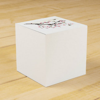 Honey Bee And Cherry Blossoms Favour Box