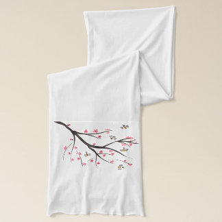 Honey Bee and Cherry Blossoms Scarf