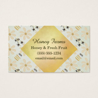 Honey Bee and Flower Business Card