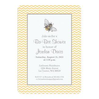 Honey Bee Baby Shower 13 Cm X 18 Cm Invitation Card