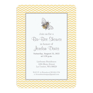Honey Bee Baby Shower Card