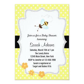 Honey Bee Baby Shower Invitation Yellow