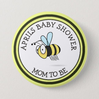 Honey Bee Baby Shower Momto Be Button