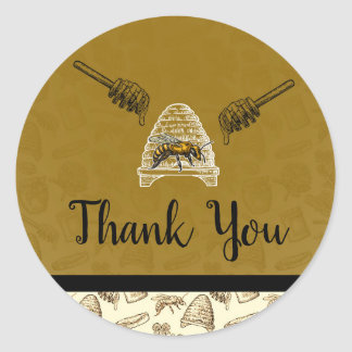 Honey Bee Beehive Birthday Party Favor Thank You Classic Round Sticker