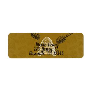 Honey Bee Beehive Birthday Party Wedding Organic Return Address Label
