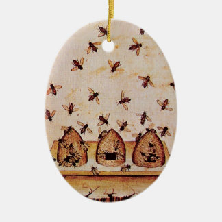 HONEY BEE, BEEKEPER CHRISTMAS TREE ORNAMENT
