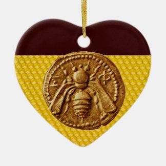 HONEY BEE, BEEKEPER Heart Christmas Ornaments