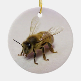 honey bee ceramic ornament
