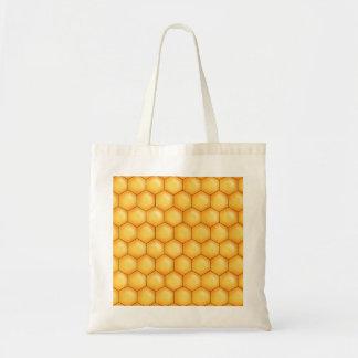honey bee comb texture tote bag