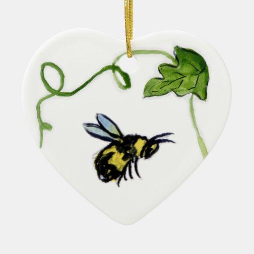 Honey Bee Garden Art Custom Ornament Pendant
