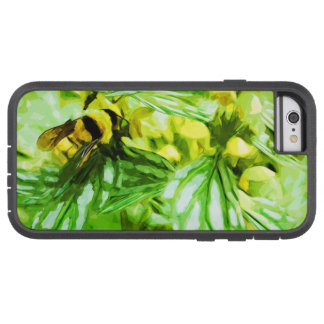 Honey Bee Gathering Pollen Abstract Impressionism Tough Xtreme iPhone 6 Case