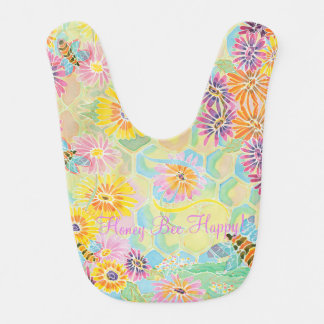Honey Bee Happy! Baby Bib by M. Nicole van Dam