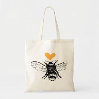 Honey Bee Heart Tote