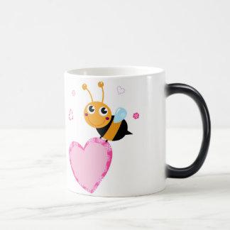 Honey Bee Holding Pink Heart Morphing Mug
