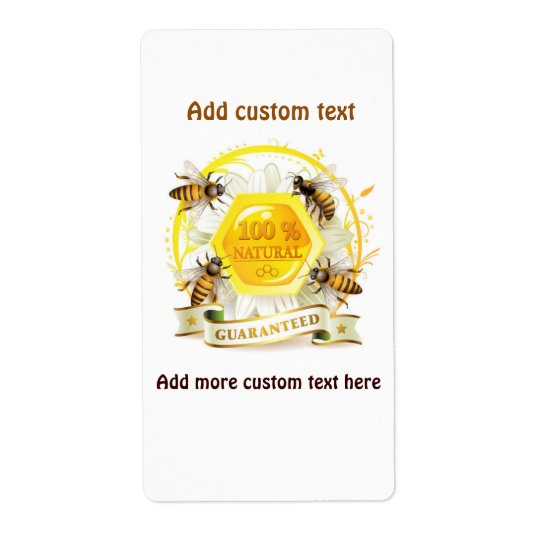 Honey Bee Honey Seller Beekeeper Apiarist Shipping Label