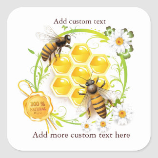 Honey Bee Honey Seller Beekeeper Apiarist Square Sticker