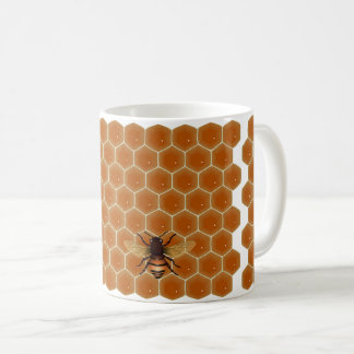 Honey Bee Honeycomb Coffee Mug
