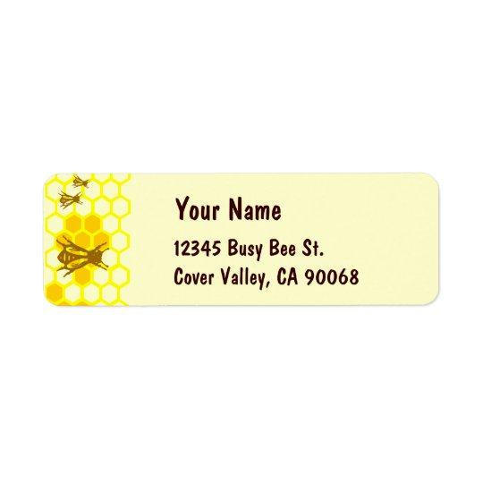 Honey Bee Honeycomb Custom Address Labels
