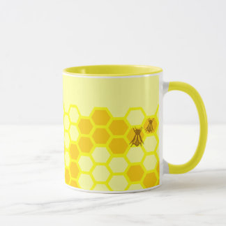 Honey Bee Honeycomb Custom Coffee Cup