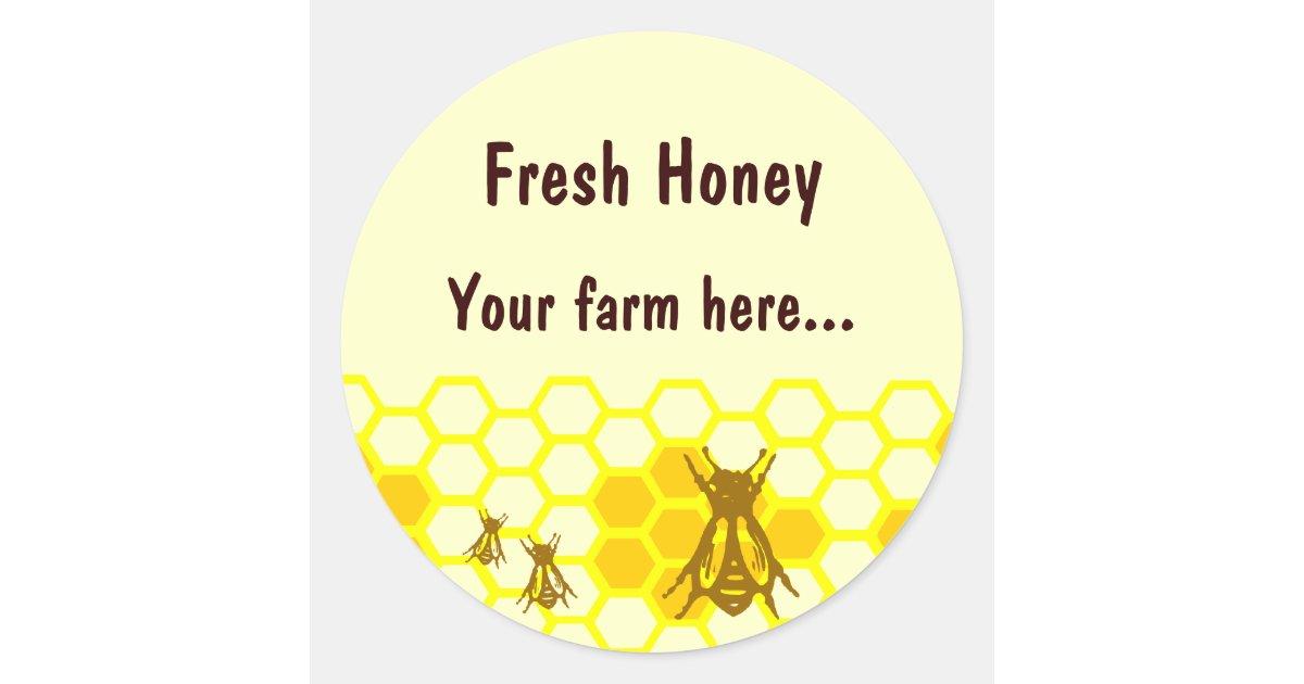 Honey Bee Honeycomb Custom Jar Label Stickers | Zazzle.com.au