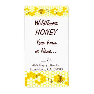 Honey Bee Honeycomb Custom Large Label Shipping Label