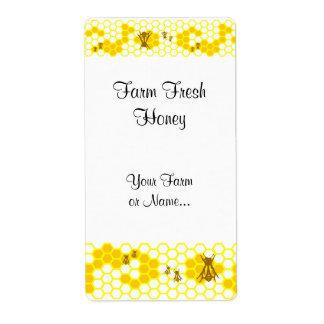 Honey Bee Honeycomb Custom Shipping Label