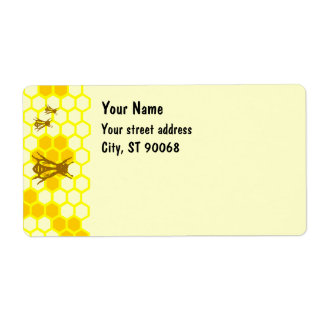 Honey Bee Honeycomb Custom Shipping Labels