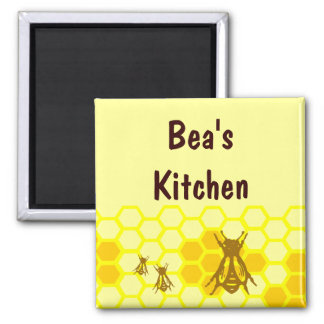 Honey Bee Honeycomb Magnet Fridge Magnet