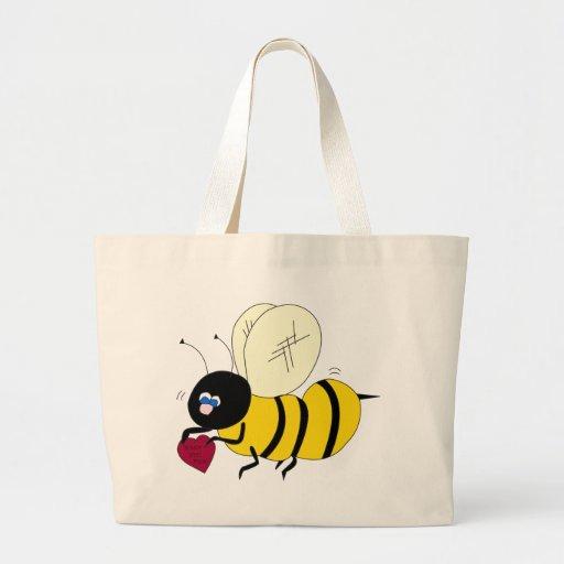 Honey Bee Mine Tote Bags