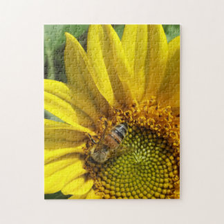 Honey bee of Yellow Sunflower Jigsaw Puzzle