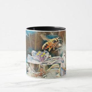 Honey Bee on a Spiderwart Mug